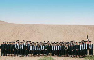Graduation Class of Glen Lake High School at Sleeping Bear Dunes