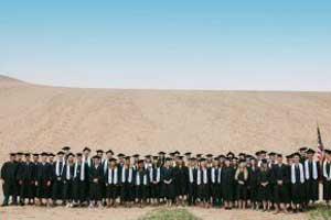 Graduation Class of Glen Lake High School at Sleeping Bear Dunes